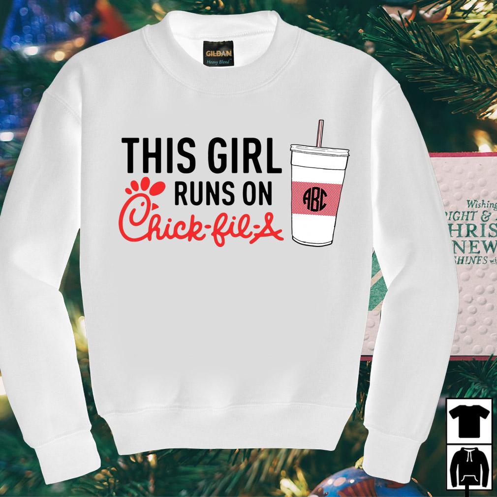 This girl runs on Chick-fil-a shirt