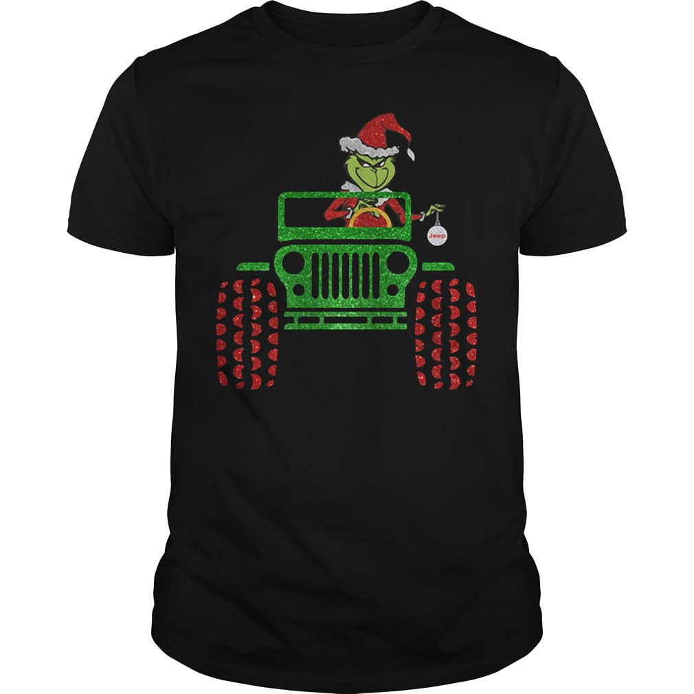 The Grinch driver Jeep car Christmas Guys shirt