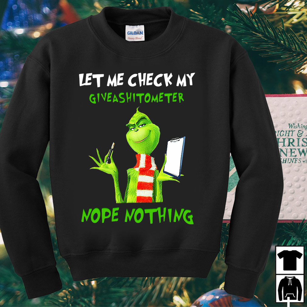 Grinch let me check my Giveshitometer nope nothing shirt