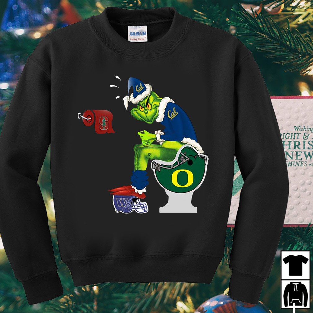 Grinch Santa California Golden Bears toilet Christmas sweater