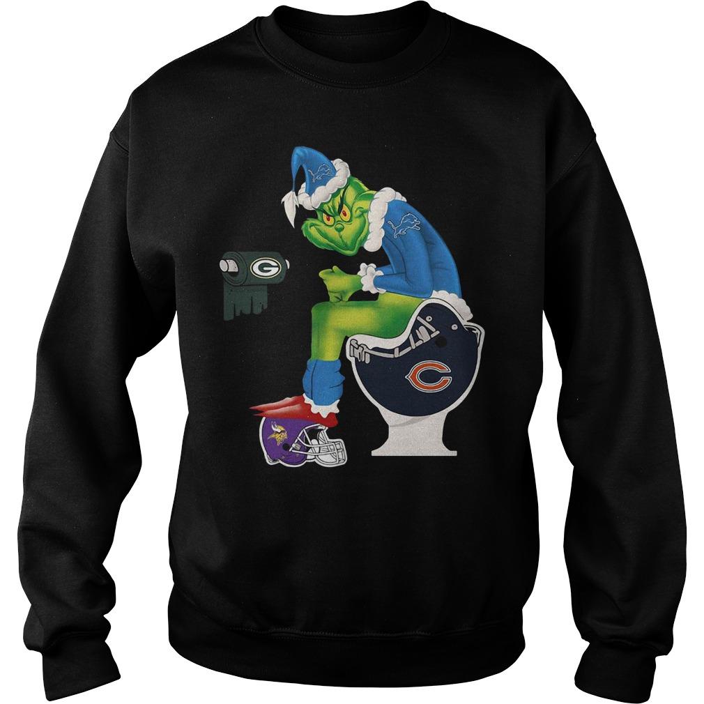 Grinch Santa Detroit Lions toilet Sweater