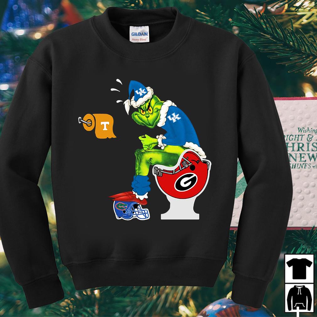 Grinch Santa Kentucky Wildcats toilet sweater