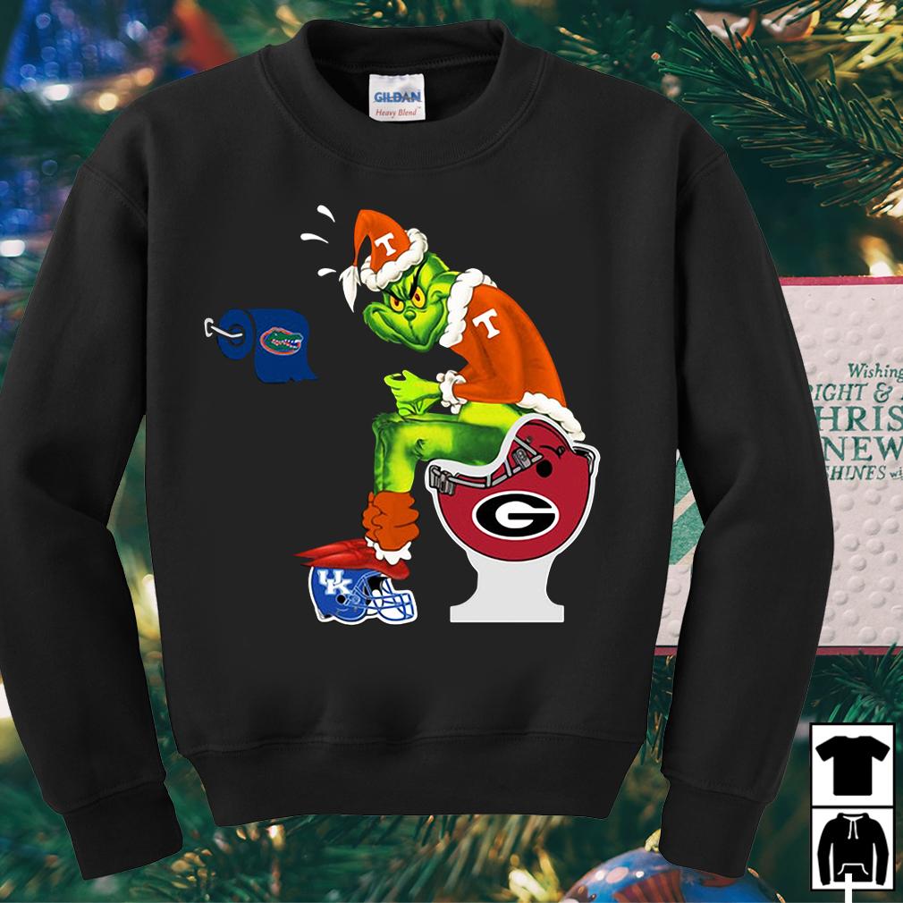Grinch Santa Tennessee Volunteers toilet sweater