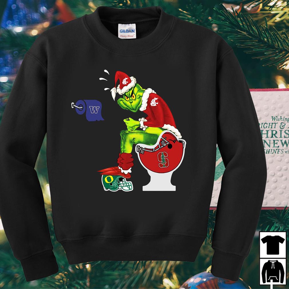 Grinch Santa Washington State toilet sweater