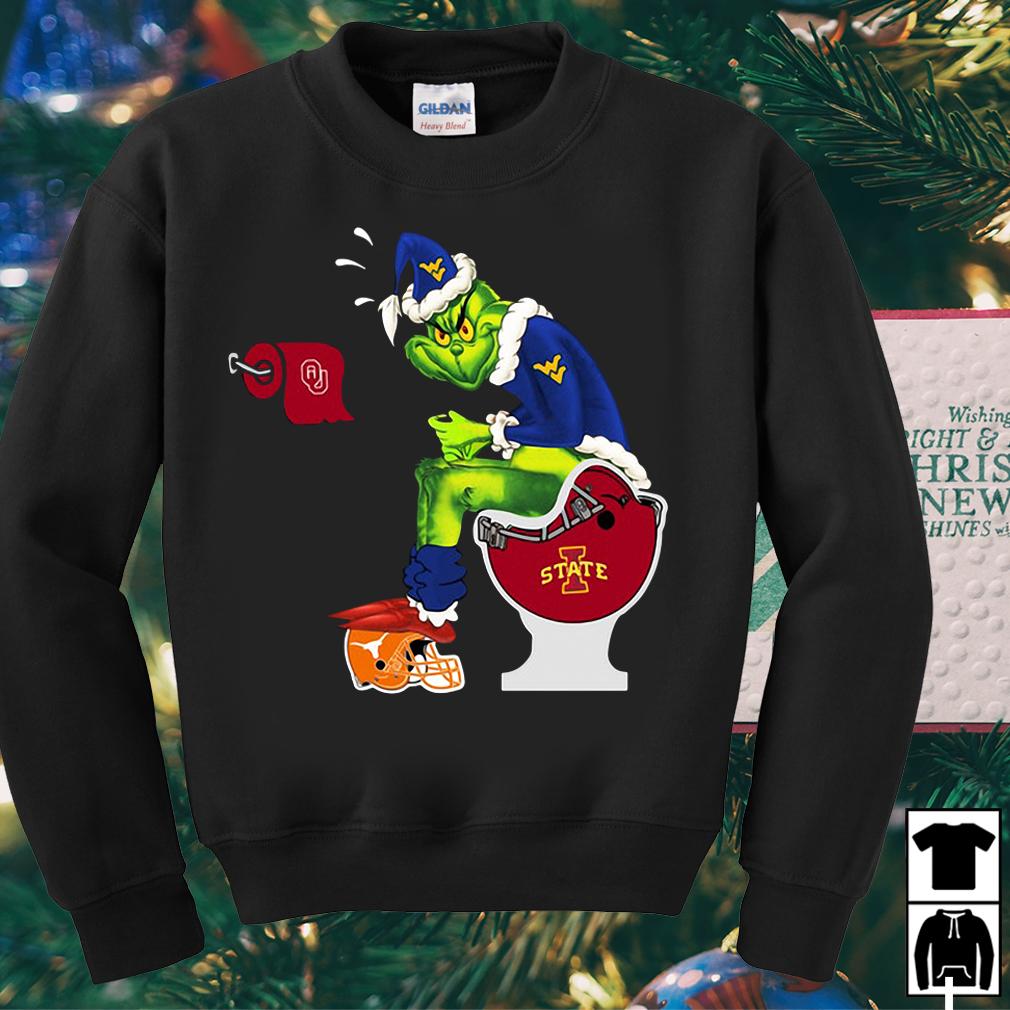 Grinch Santa West Virginia Mountaineers toilet sweater