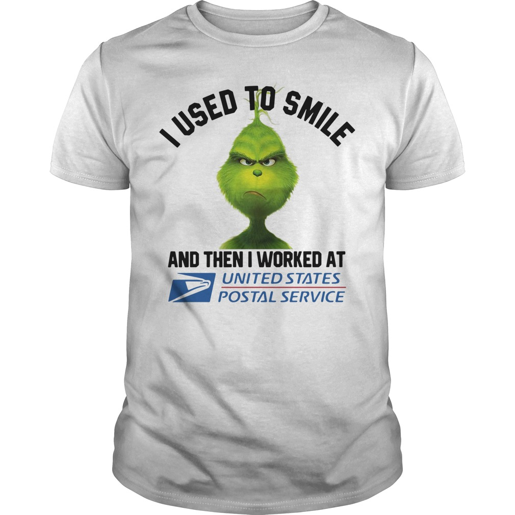 Grinch I used to smile then I worked at United States Postal Service Guys Shirt