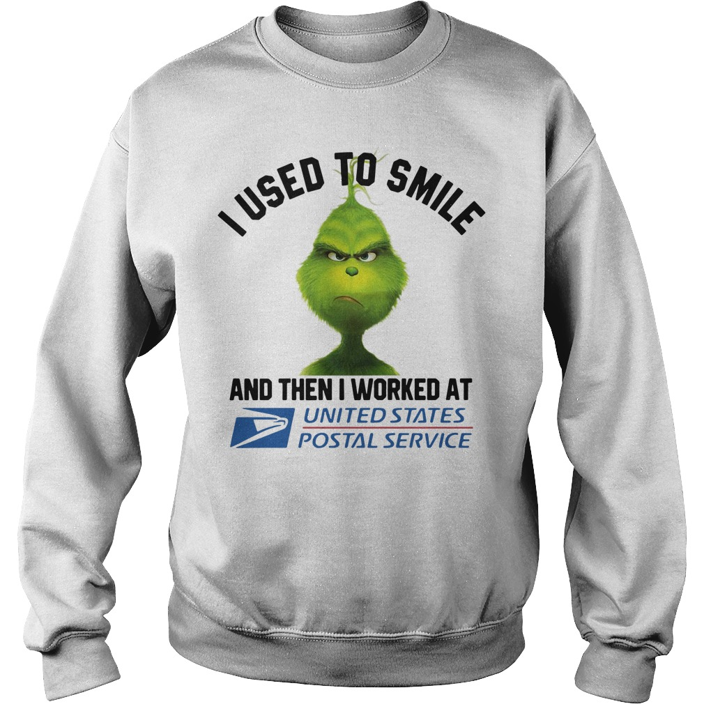 Grinch I used to smile then I worked at United States Postal Service Sweater