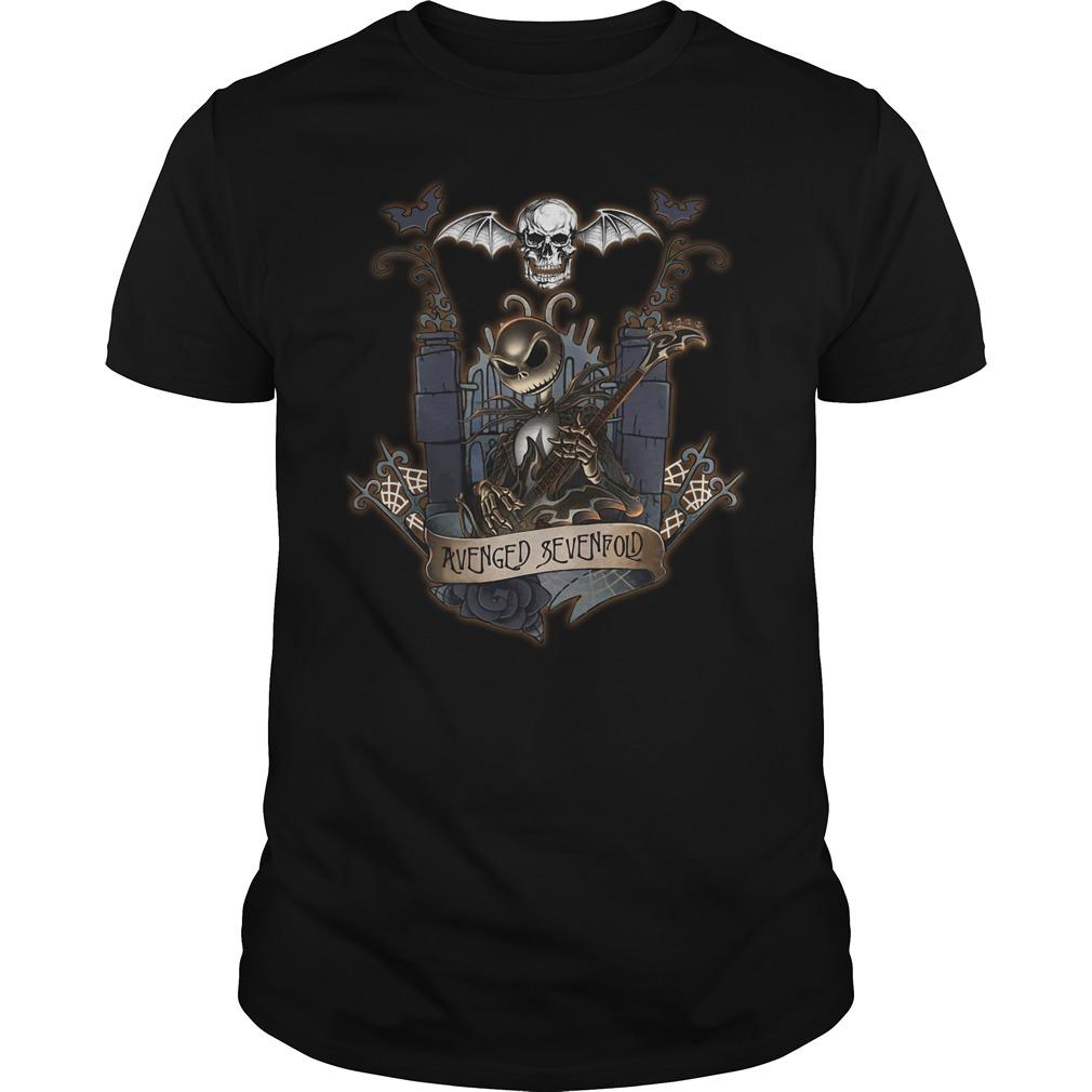 Halloween Jack Skellington Avenged Sevenfold Guys shirt
