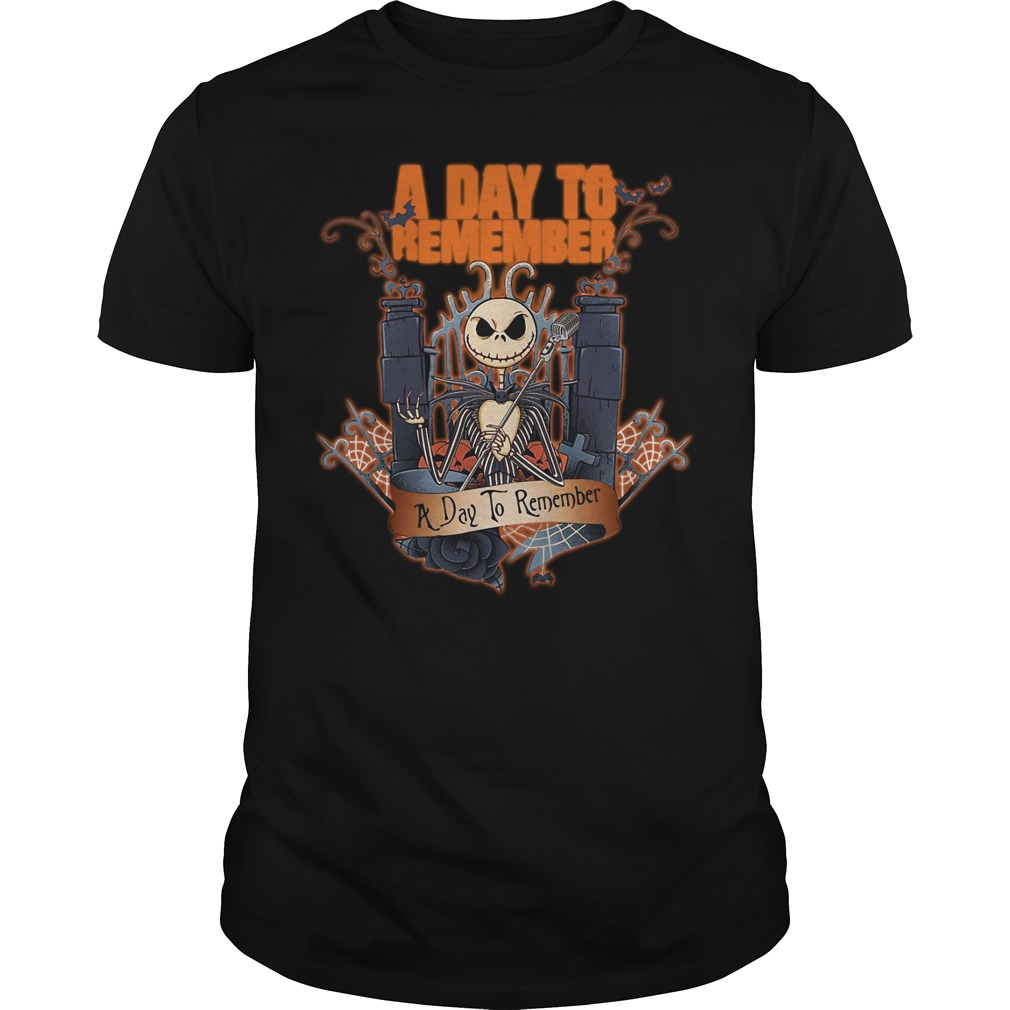 Halloween Jack Skellington a day to remember Guys shirt