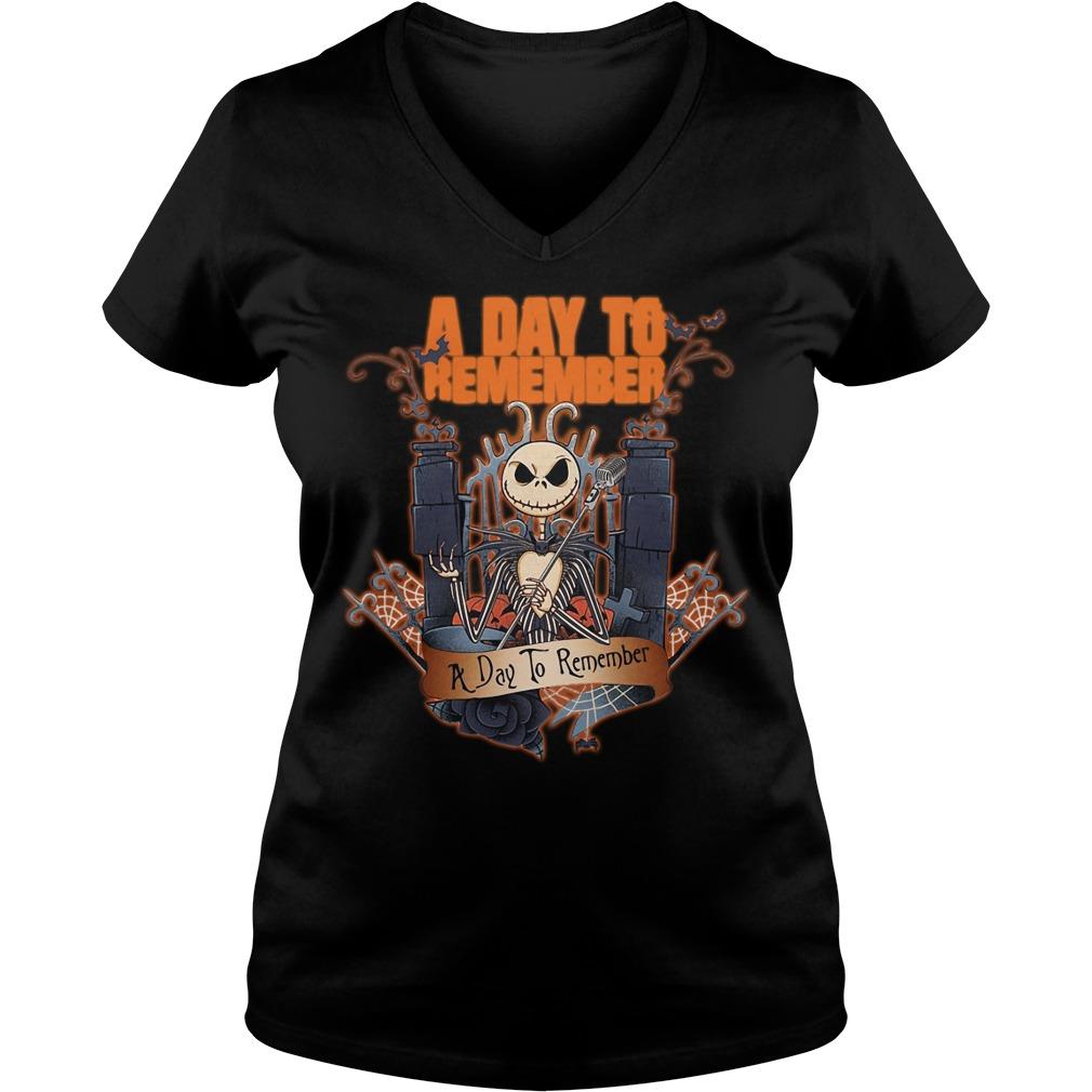 Halloween Jack Skellington a day to remember V-neck T-shirt