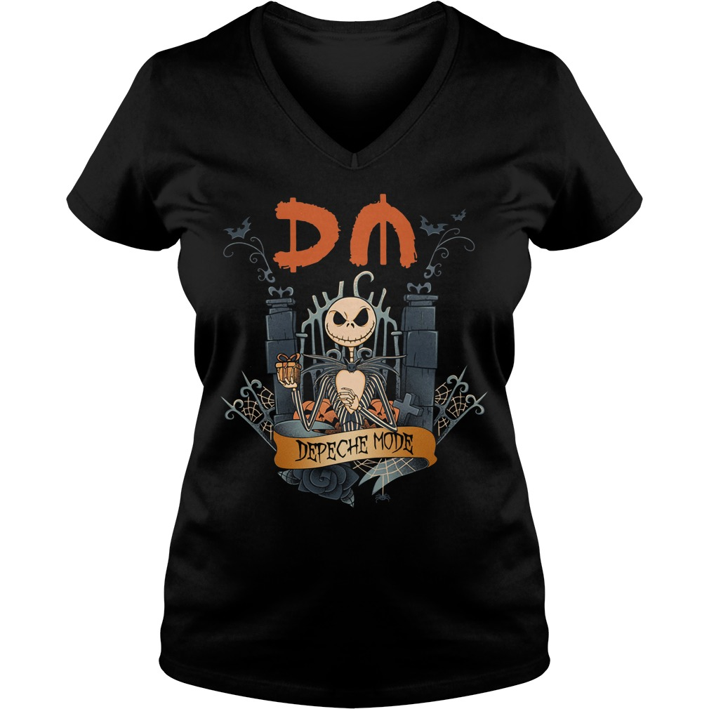 Halloween Jack Skellington depeche mode V-neck T-shirt