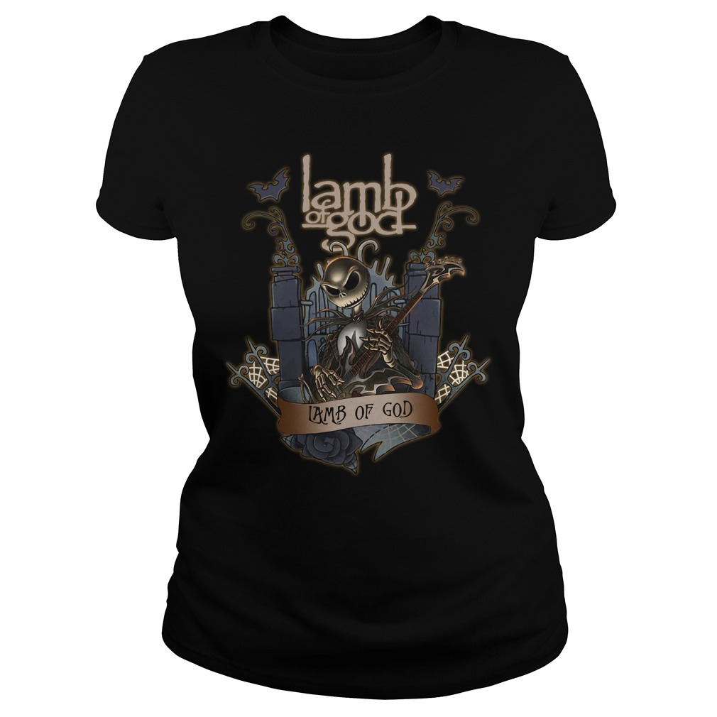 Halloween Jack Skellington Lamb Of God Ladies tee