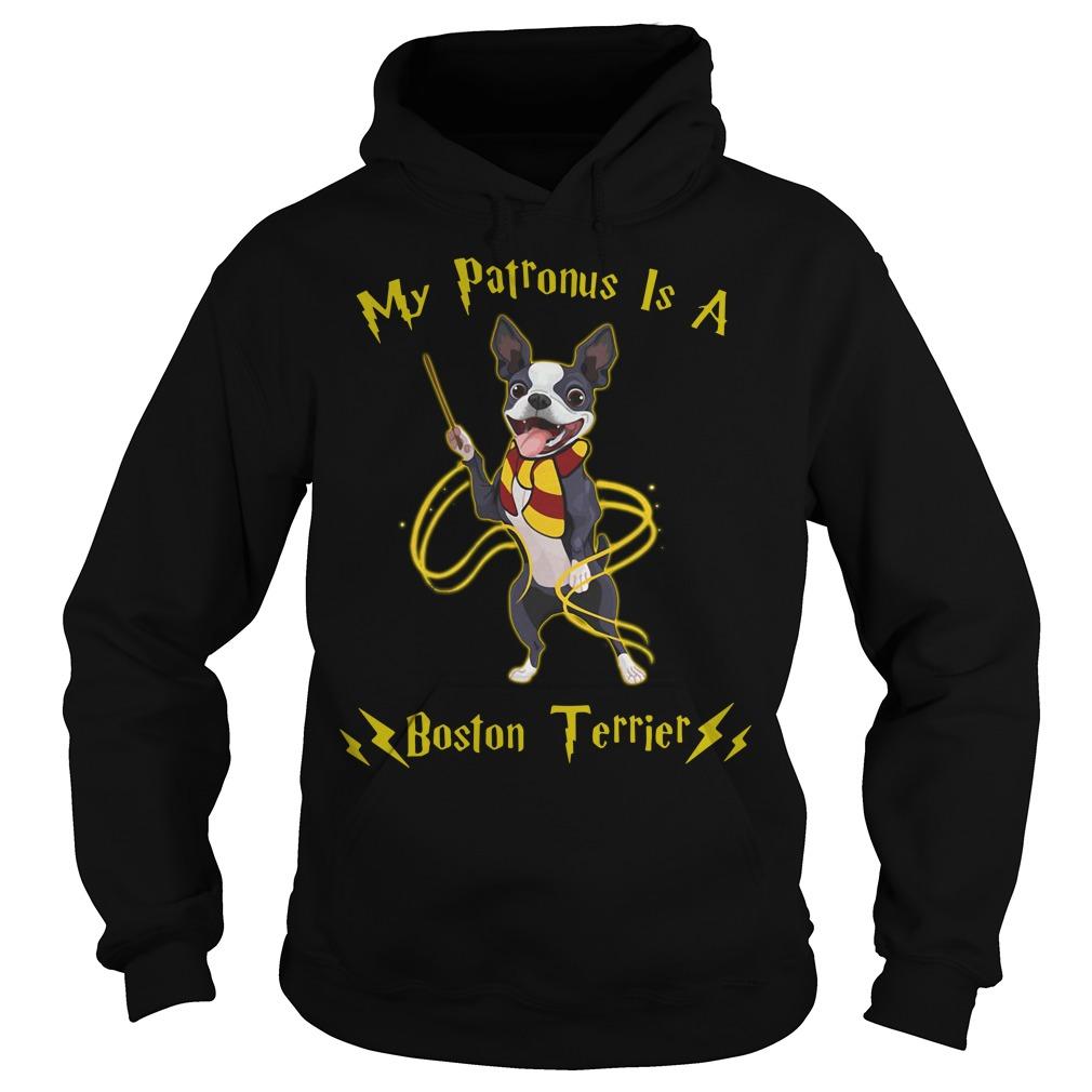 Harry Potter my Patronus is a Boston Terrier Hoodie