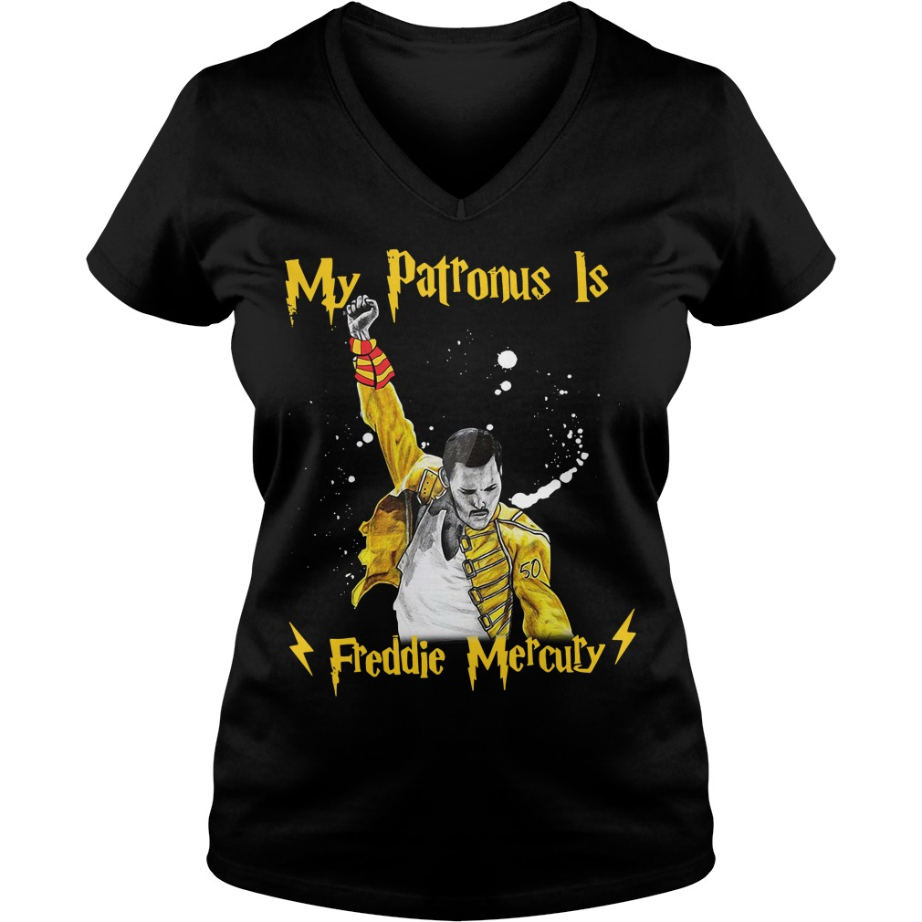 Harry Potter my patronus is Freddie Mercury V-neck T-shirt
