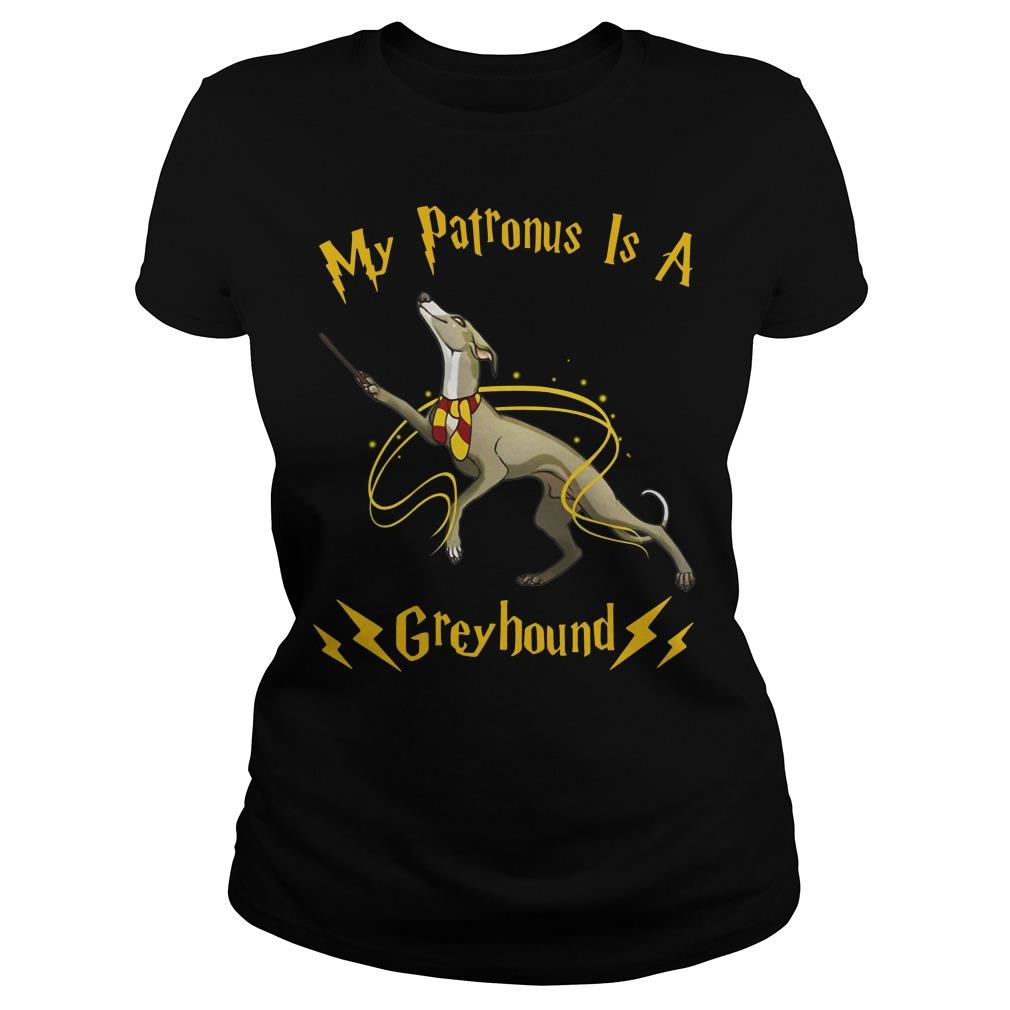 1Tee Mens My Patronus Is A Greyhound Dog T-Shirt