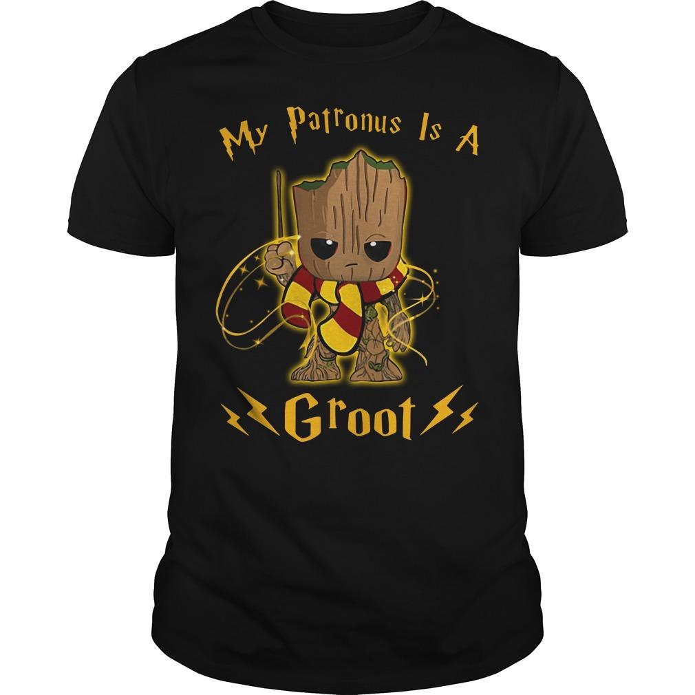 Harry Potter my Patronus is a Groot Guys Shirt