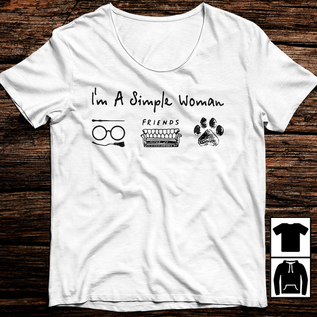I'm a simple woman love Harry Potter friends and dog paw shirt