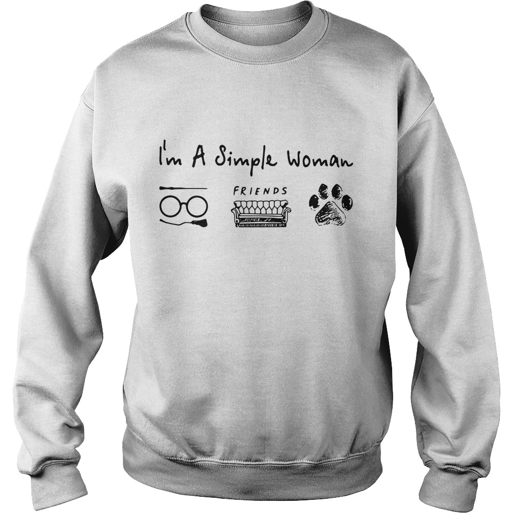 I'm a simple woman love Harry Potter friends and dog paw Sweater