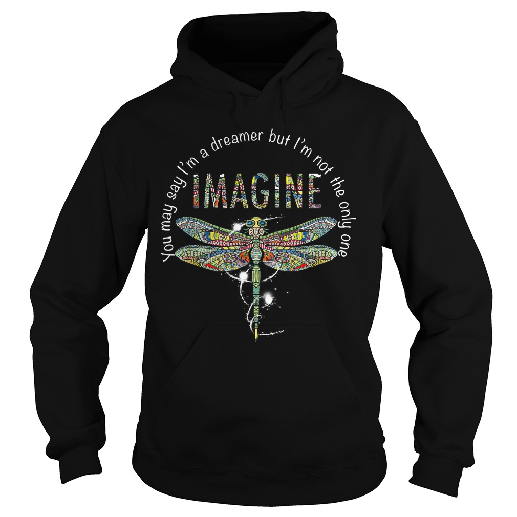 Imagine Dragonfly you may say I'm a dreamer but I'm not the only one Hoodie