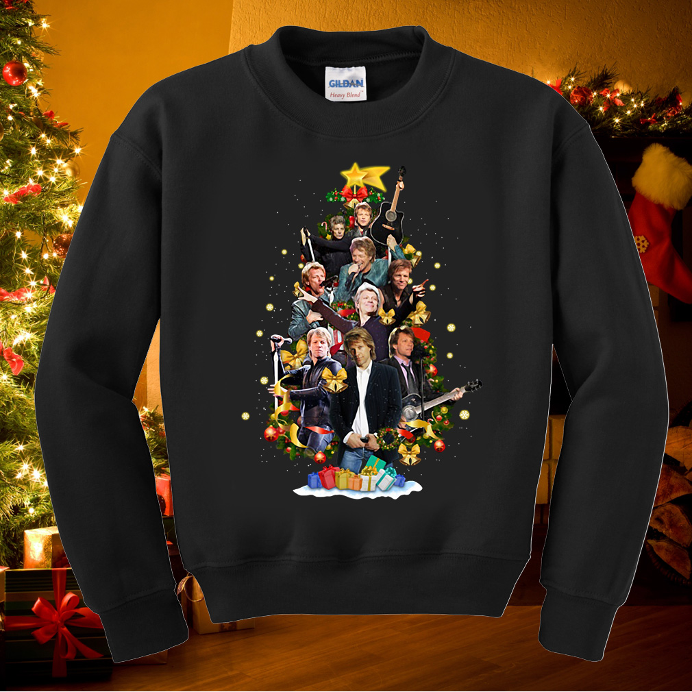 Jon Bon Jovi Christmas tree sweater
