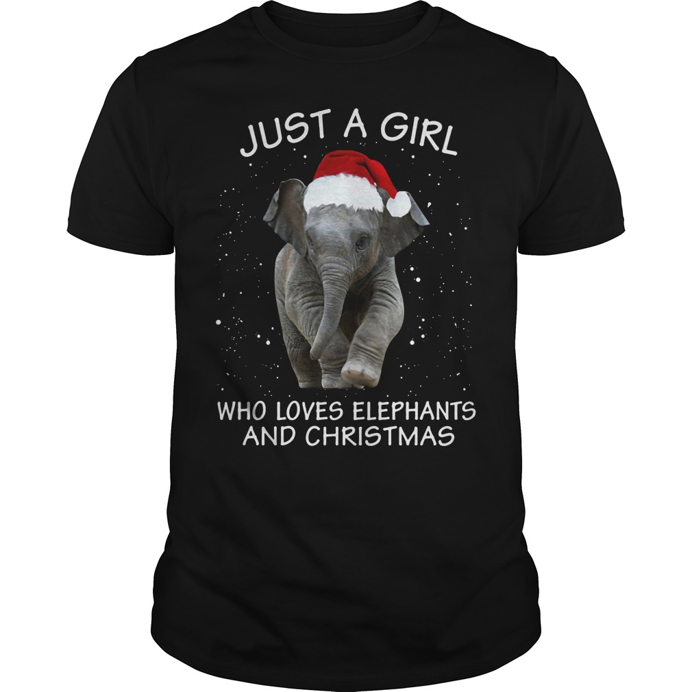 Just a girl who loves elephants and Christmas Guys Shirt