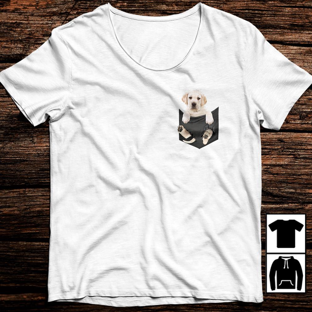Labrador in a pocket shirt