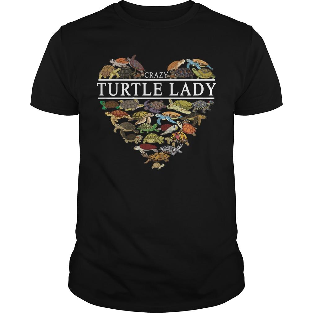 I love crazy Turtle lady aholic Guys Shirt