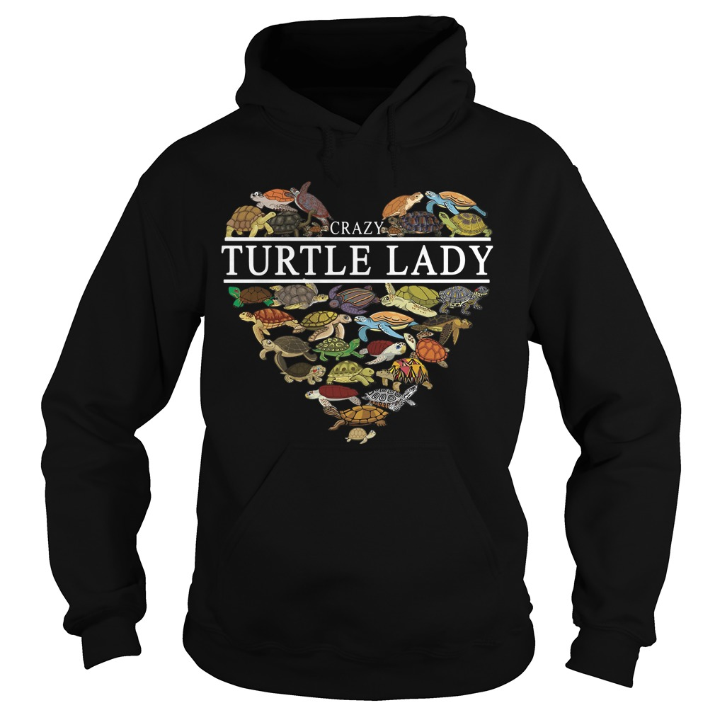 I love crazy Turtle lady aholic Hoodie