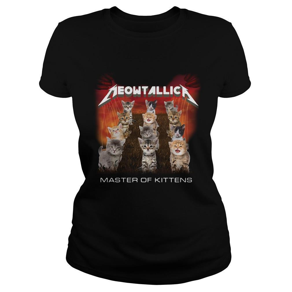 Meowtallic master of kittens Ladies Tee