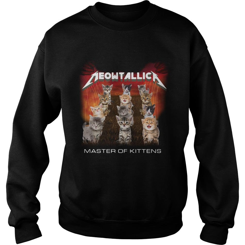 Meowtallic master of kittens Sweater