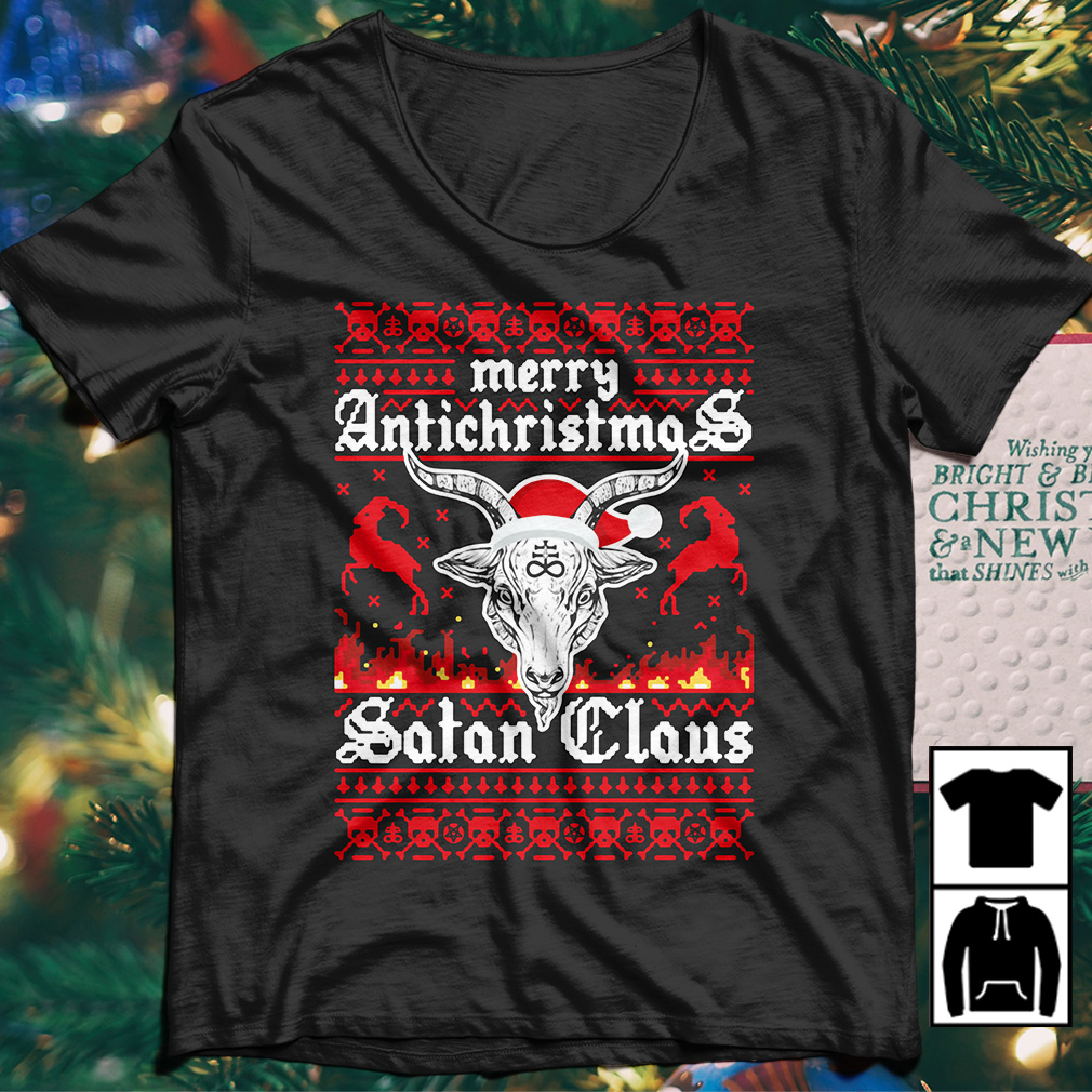 Merry Antichristmas Satan Claus Ugly Sweater