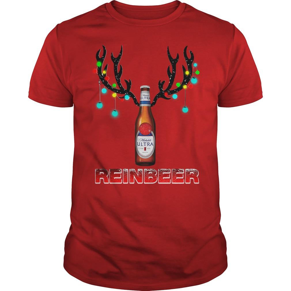 Michelob Ultra beer reinbeer Christmas Guys Shirt