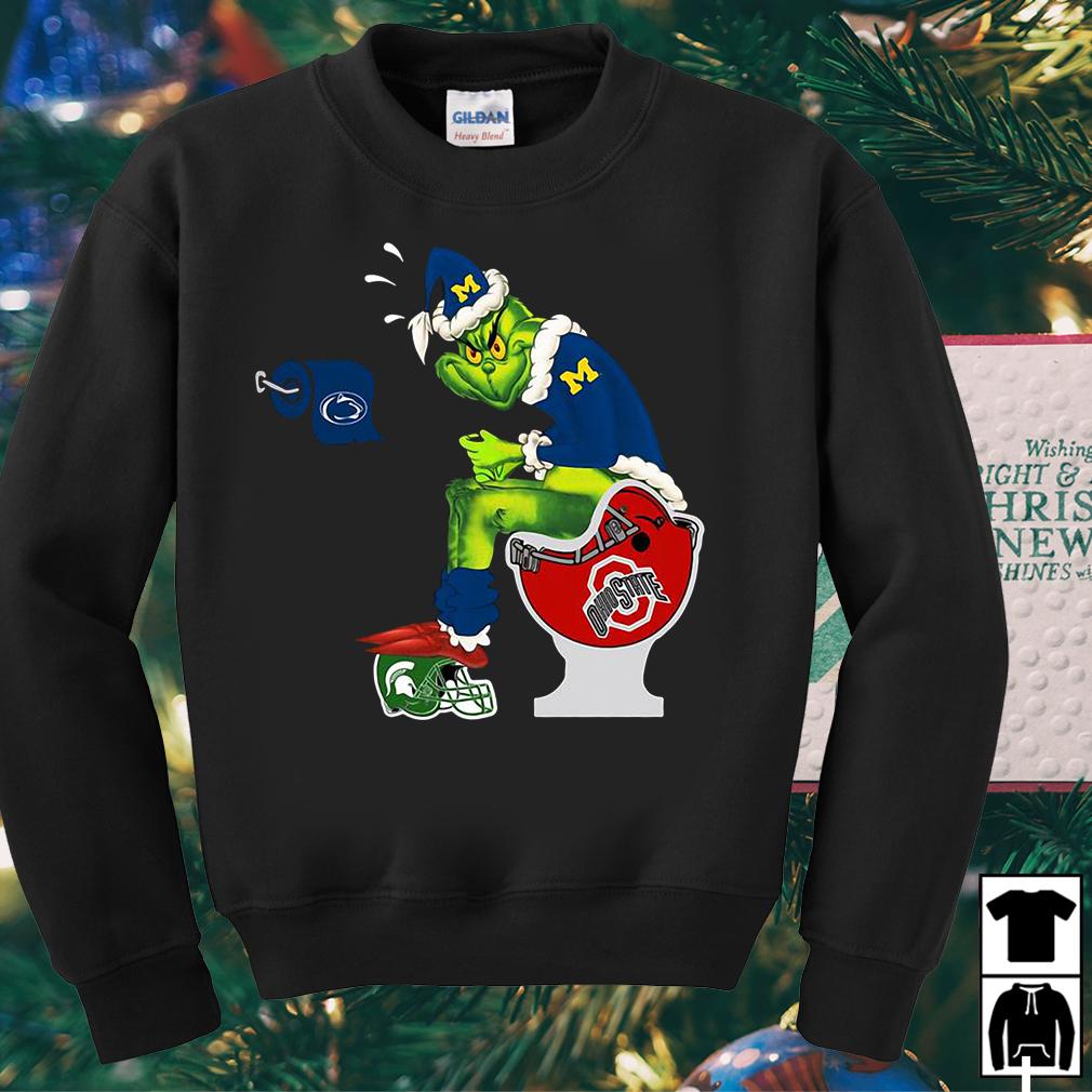 Michigan Wolverines Santa Grich claus shit on Ohio State sweater, shirt