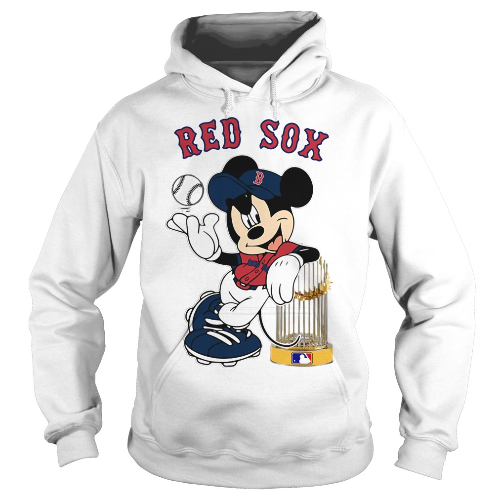 Mickey Boston Red Sox Taking The Trophy MLB 2018 Hoodie