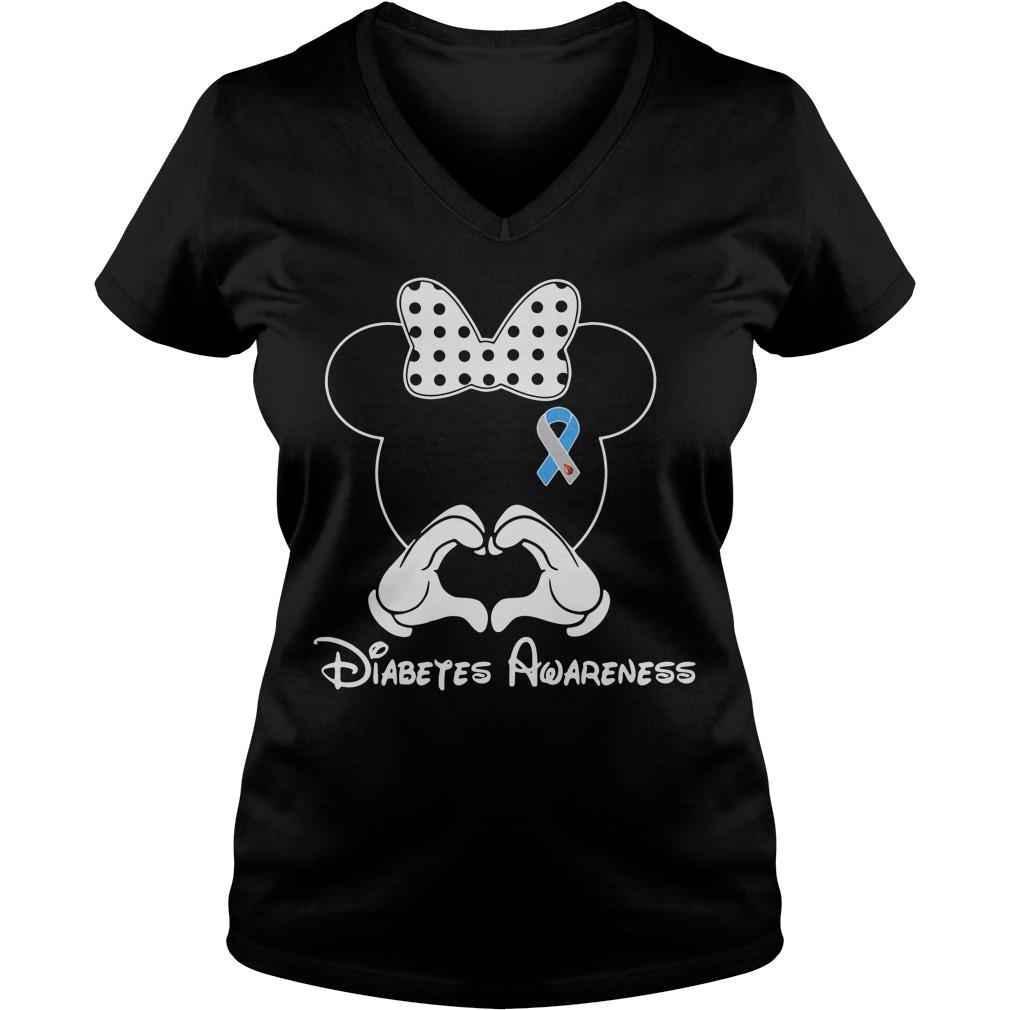 Mickey Diabetes Awareness V-neck T-shirt
