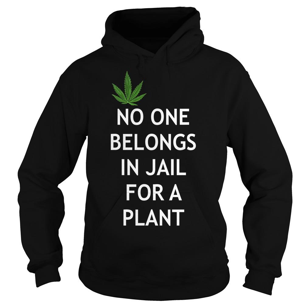Weed No one belongs in Jail for a plant Hoodie