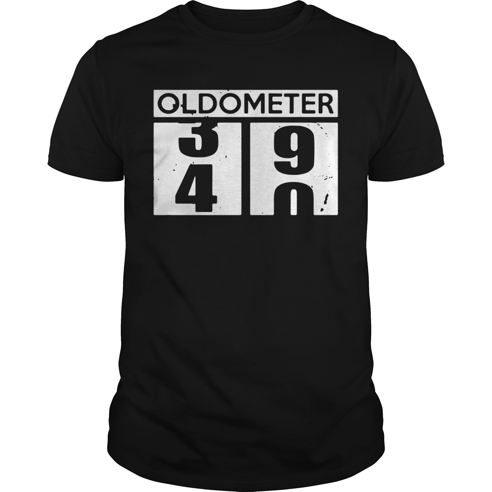 Oldometer 39 40 funny birthday Guys Shirt