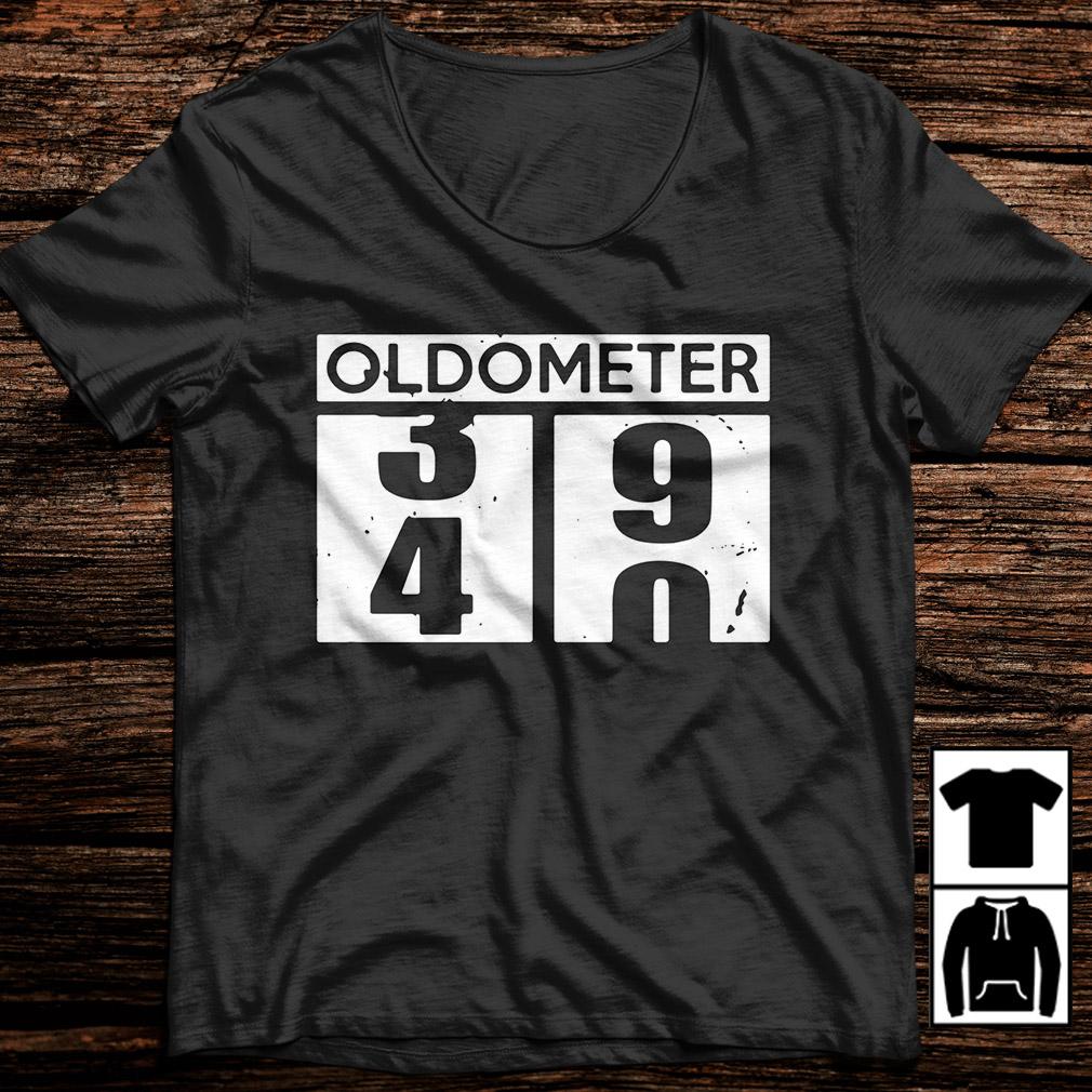 Oldometer 39 40 funny birthday shirt