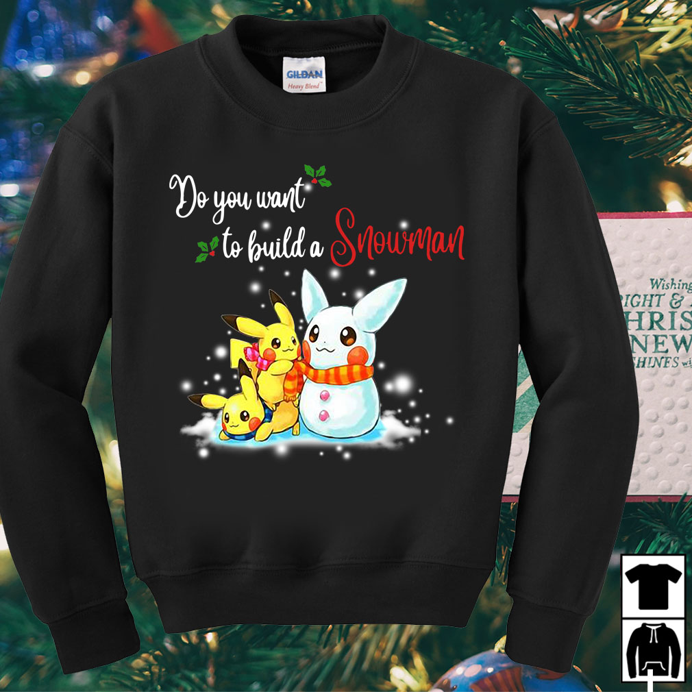 Pikachu do you want to build a Snowman Christmas sweater