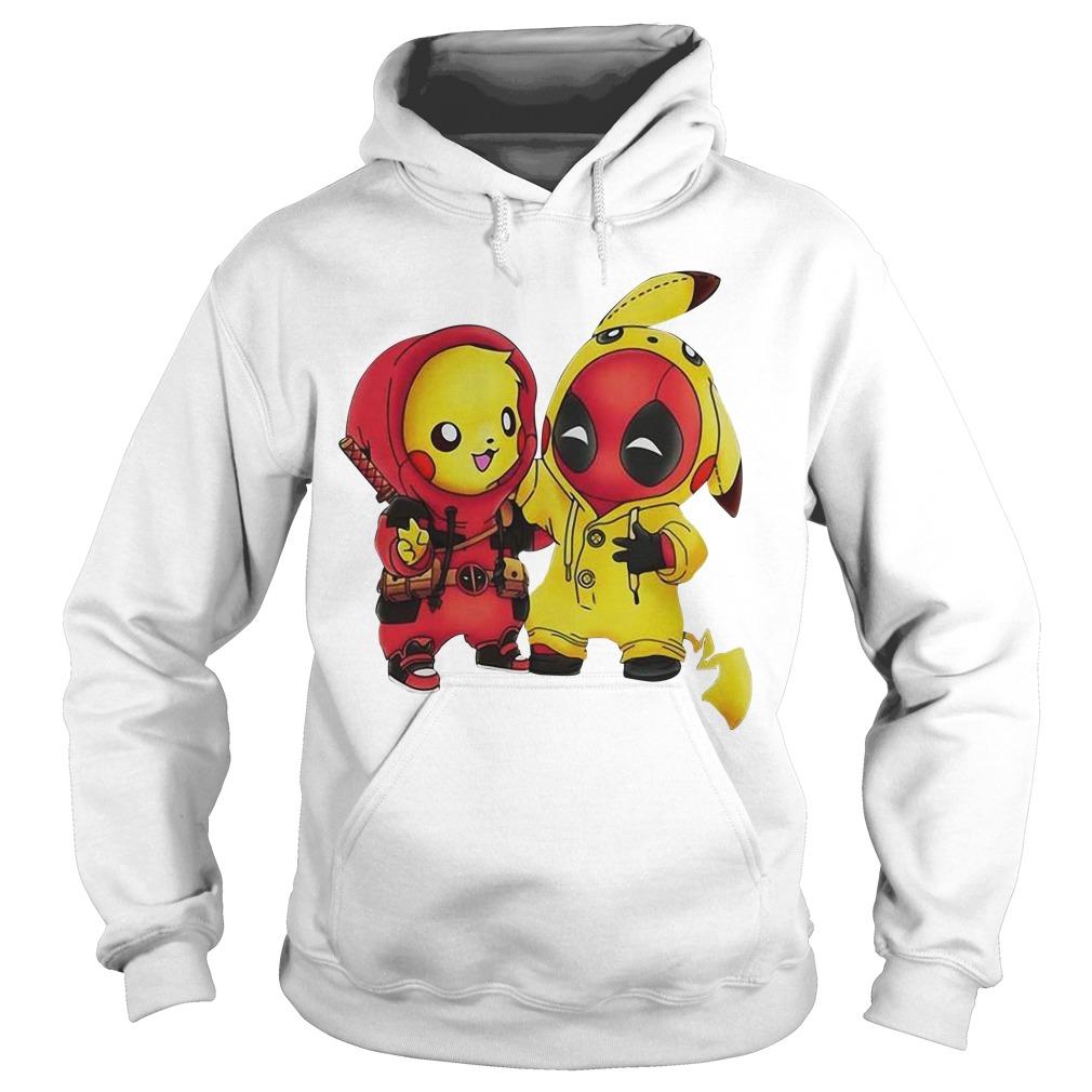 Pikapool Pikachu Pokemon and Deadpool Hoodie