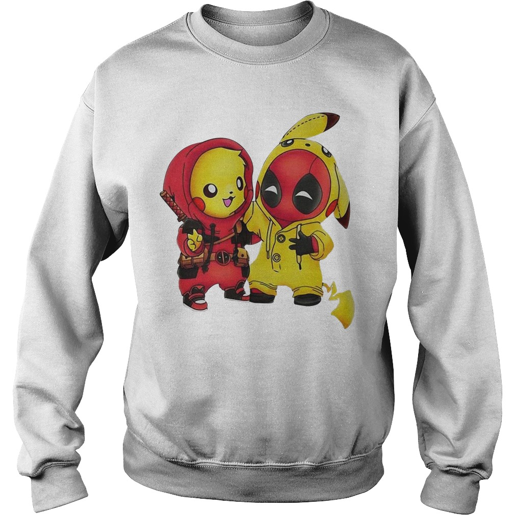 Pikapool Pikachu Pokemon and Deadpool Sweater
