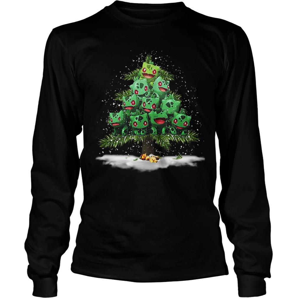 Pokemon Fushigidane Christmas tree Longsleeve Tee