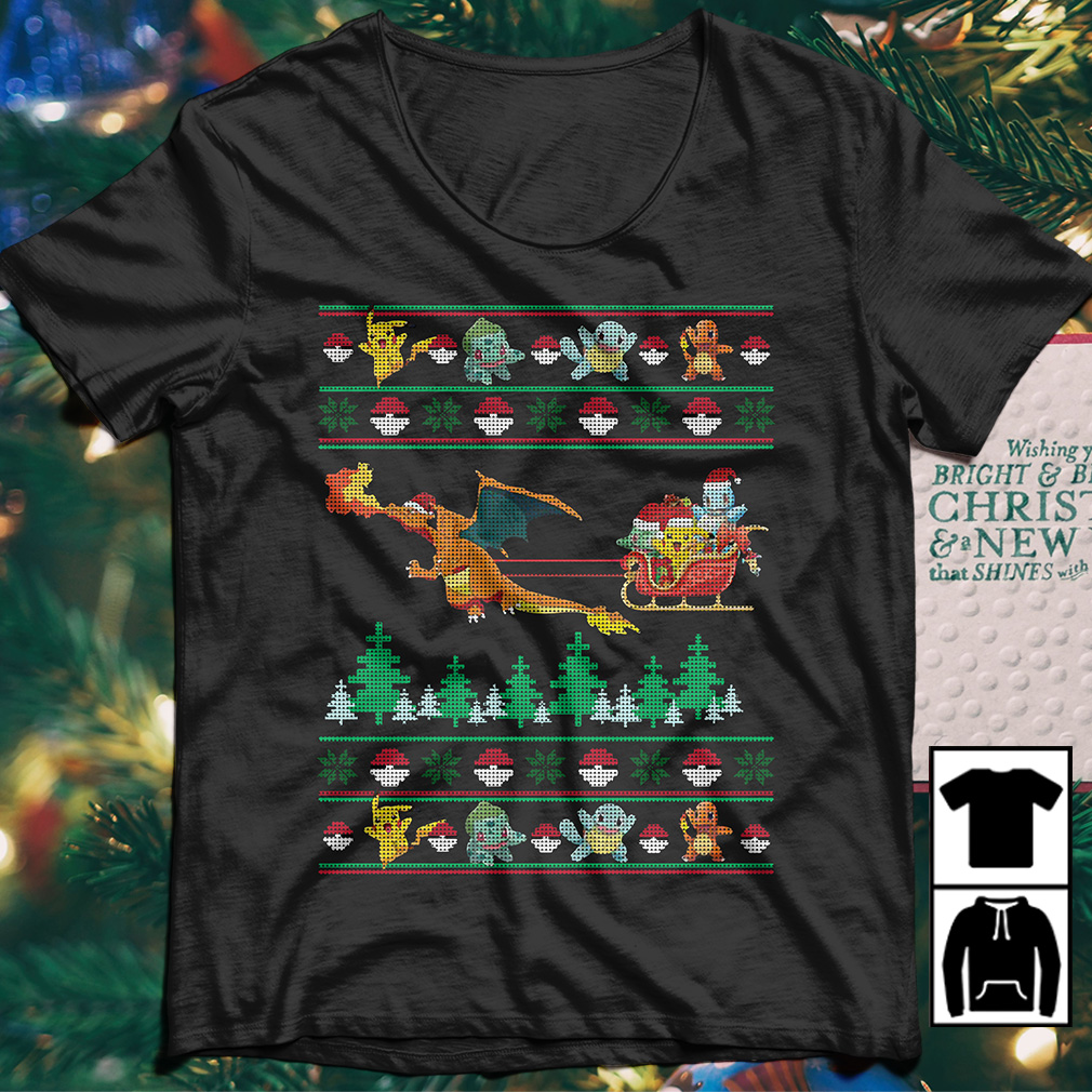Pokemon Christmas Sweater.Pokemon Pikachu Fushigidane Squirtle Hitokage Christmas Sweater