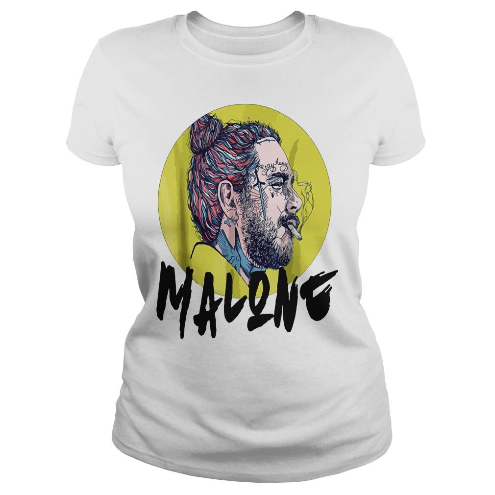 Post Malone stay away smoking Ladies Tee