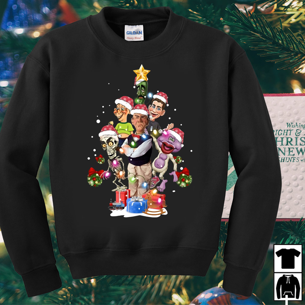 Puppets of Jeff Dunham Christmas tree sweater