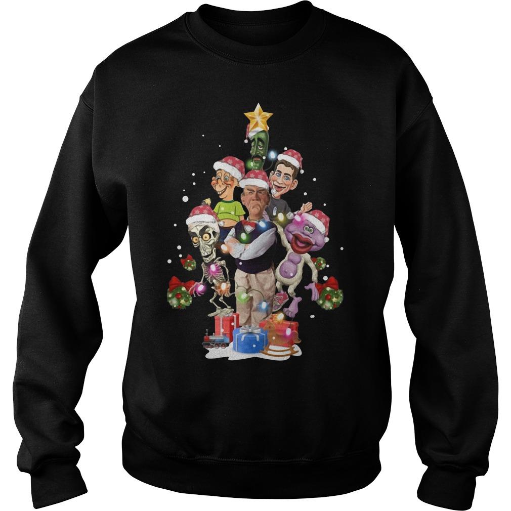 Puppets of Jeff Dunham Christmas tree Sweater