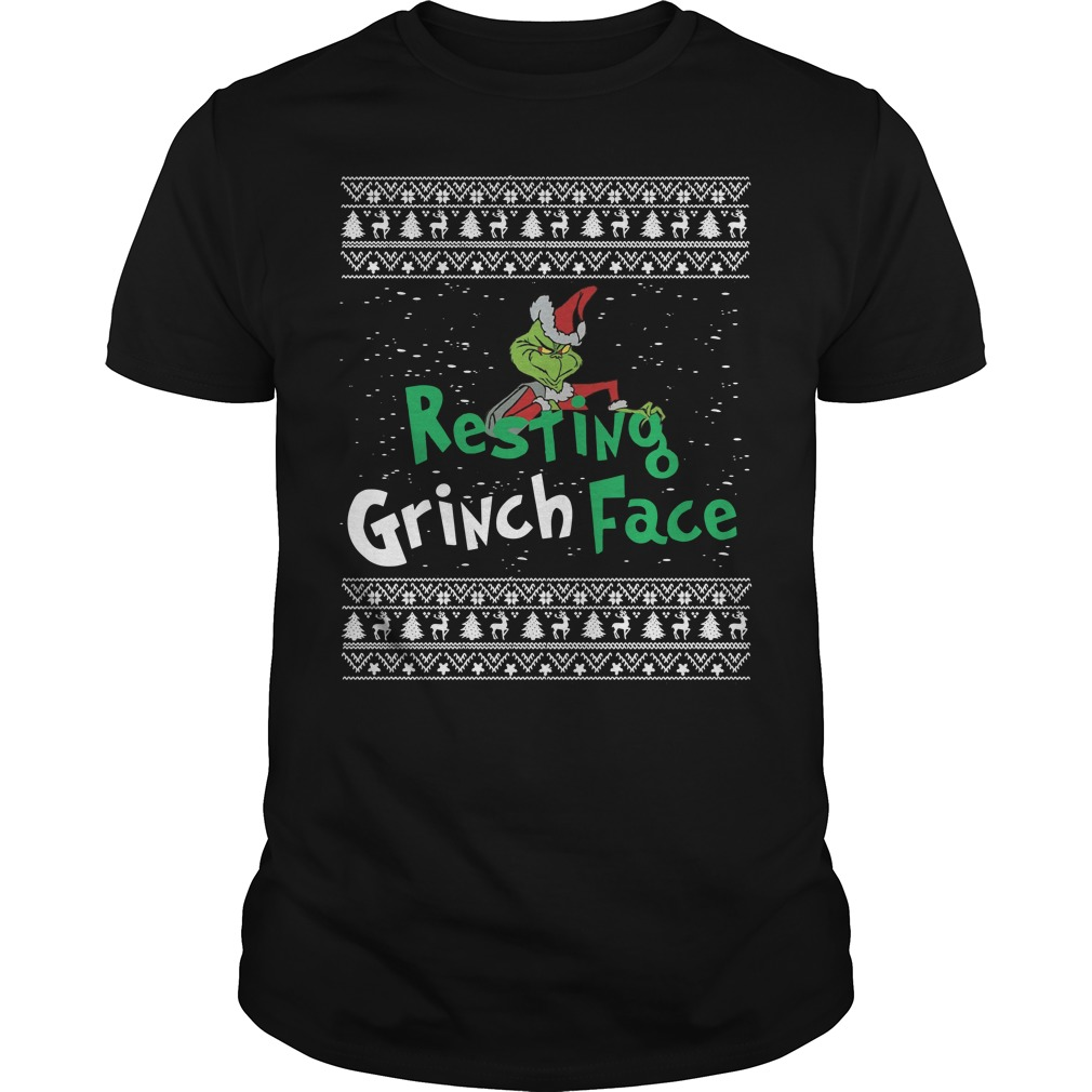 Resting Grinch face ugly Christmas Guys shirt
