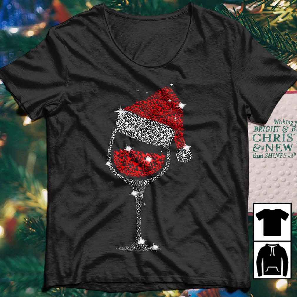 Rhinestone Wine Glasses with Santa Christmas sweater