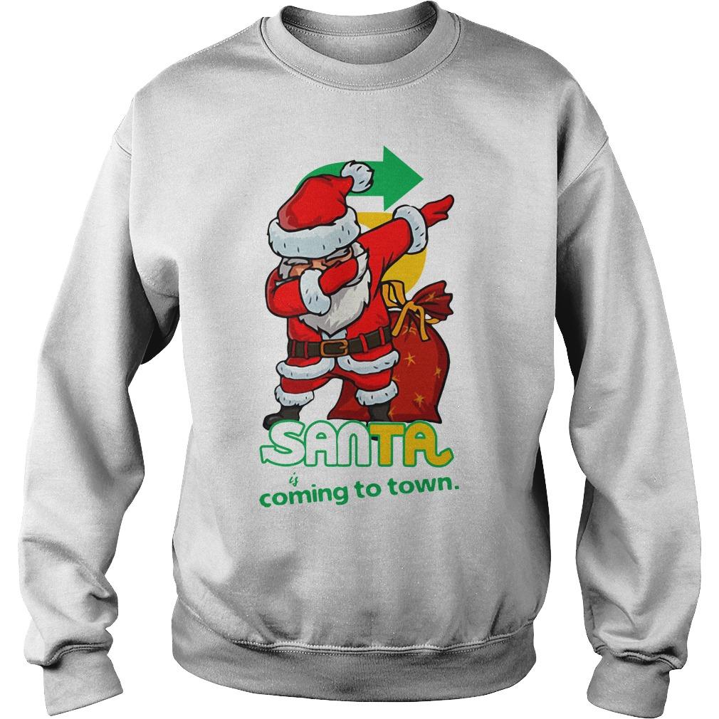 Santa Claus Dabbing Santa coming to town Christmas Sweater