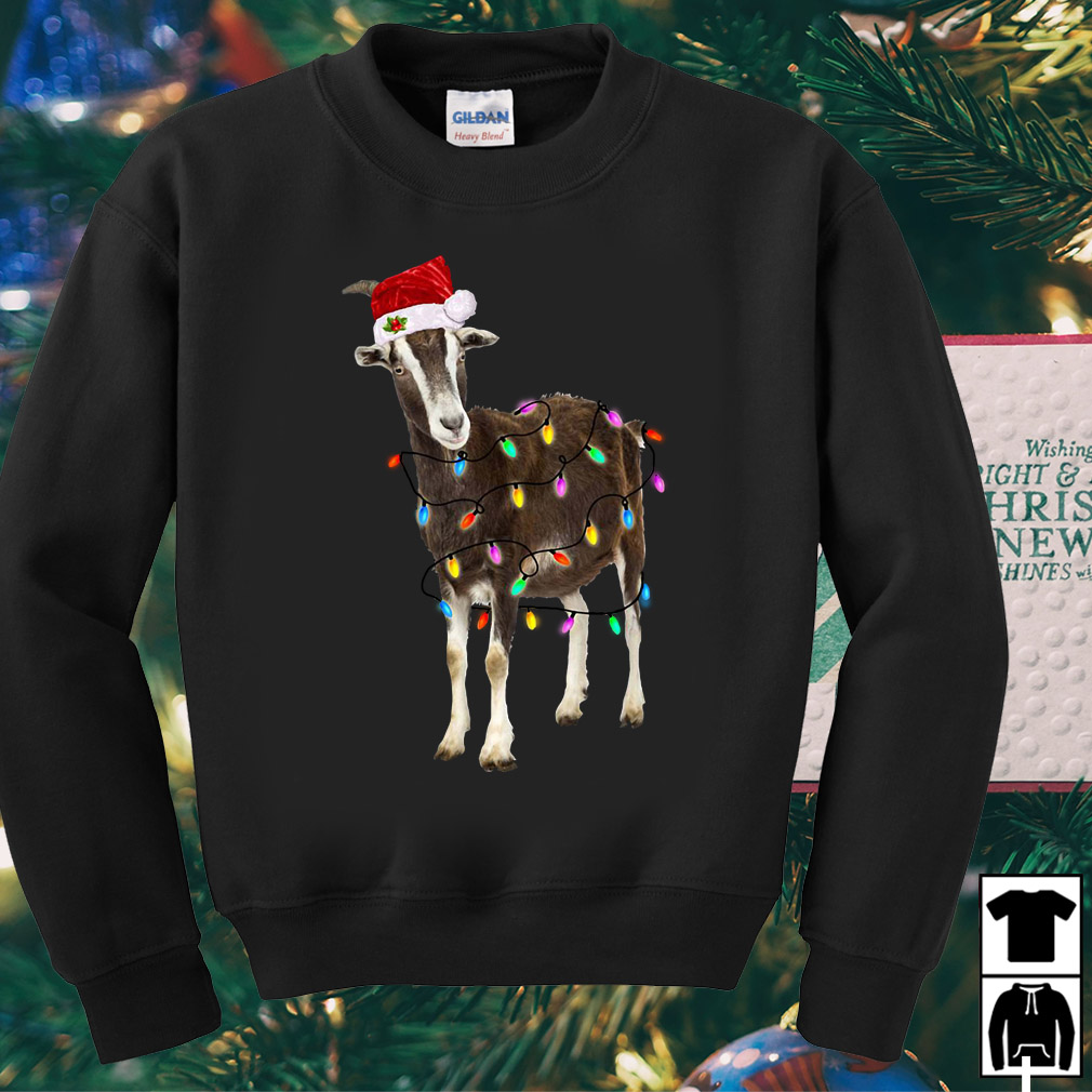 Santa Goat light Christmas sweater